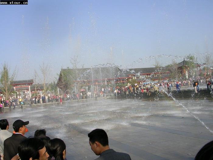 大雁塔音乐喷泉---※陕西旅游资料网图库※---www.x.