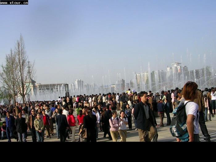 大雁塔音乐喷泉---※陕西旅游资料网图库※---www.x